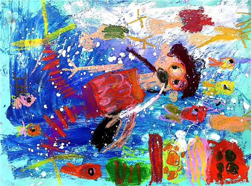 """家长看画和孩子绘画之间的""""墙壁"""""""